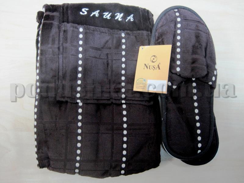 Набор для сауны мужской Nusa NS-215 коричневый
