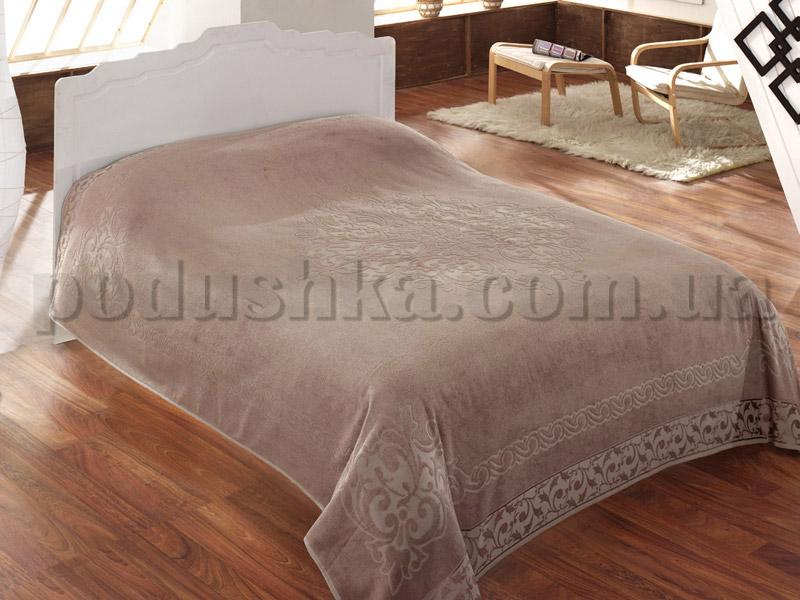 Покрывало махровое ISSIMO BAROQUE BROWN (KAHVE) коричневое