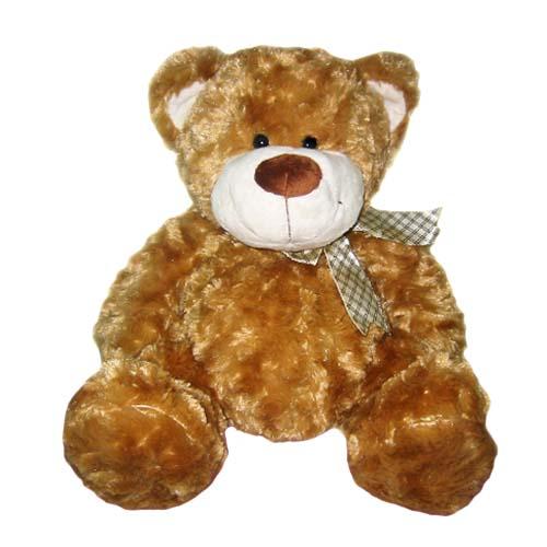 Мягкая игрушка Медведь коричневый, с бантом, 48 см