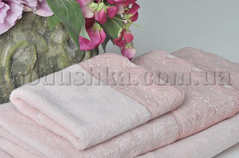 Набор махровых полотенец Pavia BRODELI Pink розовый
