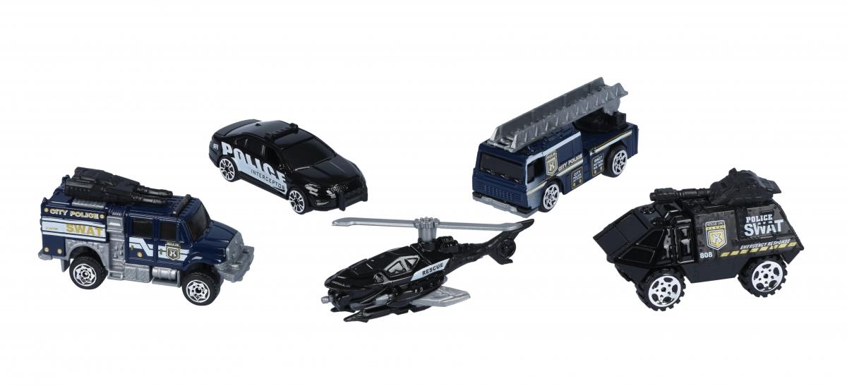 Набор машинок Same Toy Metal Полиция SQ80865-3Ut