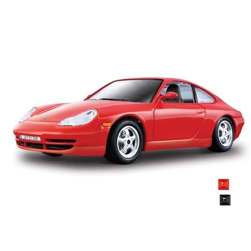 Автомодель - Porsche 911 Carrera (ассорти серебристый, красный, 1:24)