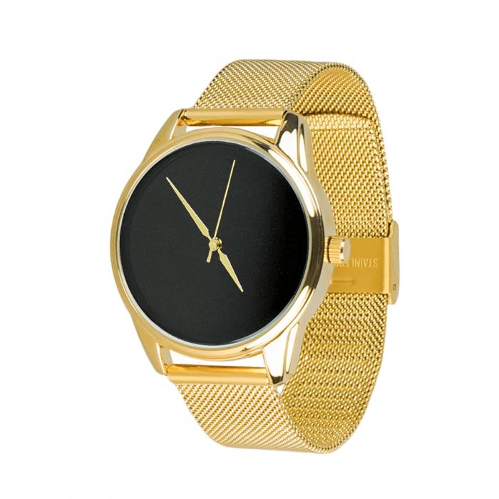 Часы ZIZ Минимализм черный золото - второй ремешок в подарок 5000487