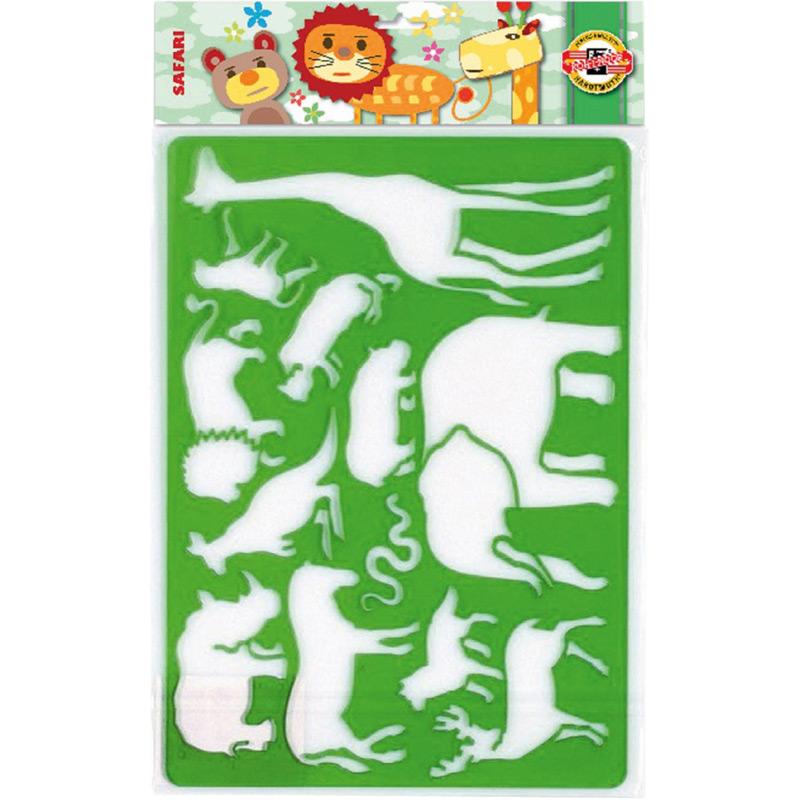 Трафарет пластиковый Сафари 31х20 см Koh-i-noor  9820/1