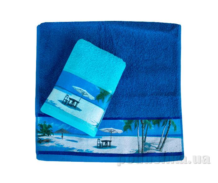 Махровое полотенце Романтика Доминикана синее