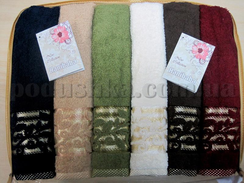 Набор махровых полотенец Hanibaba Fulya