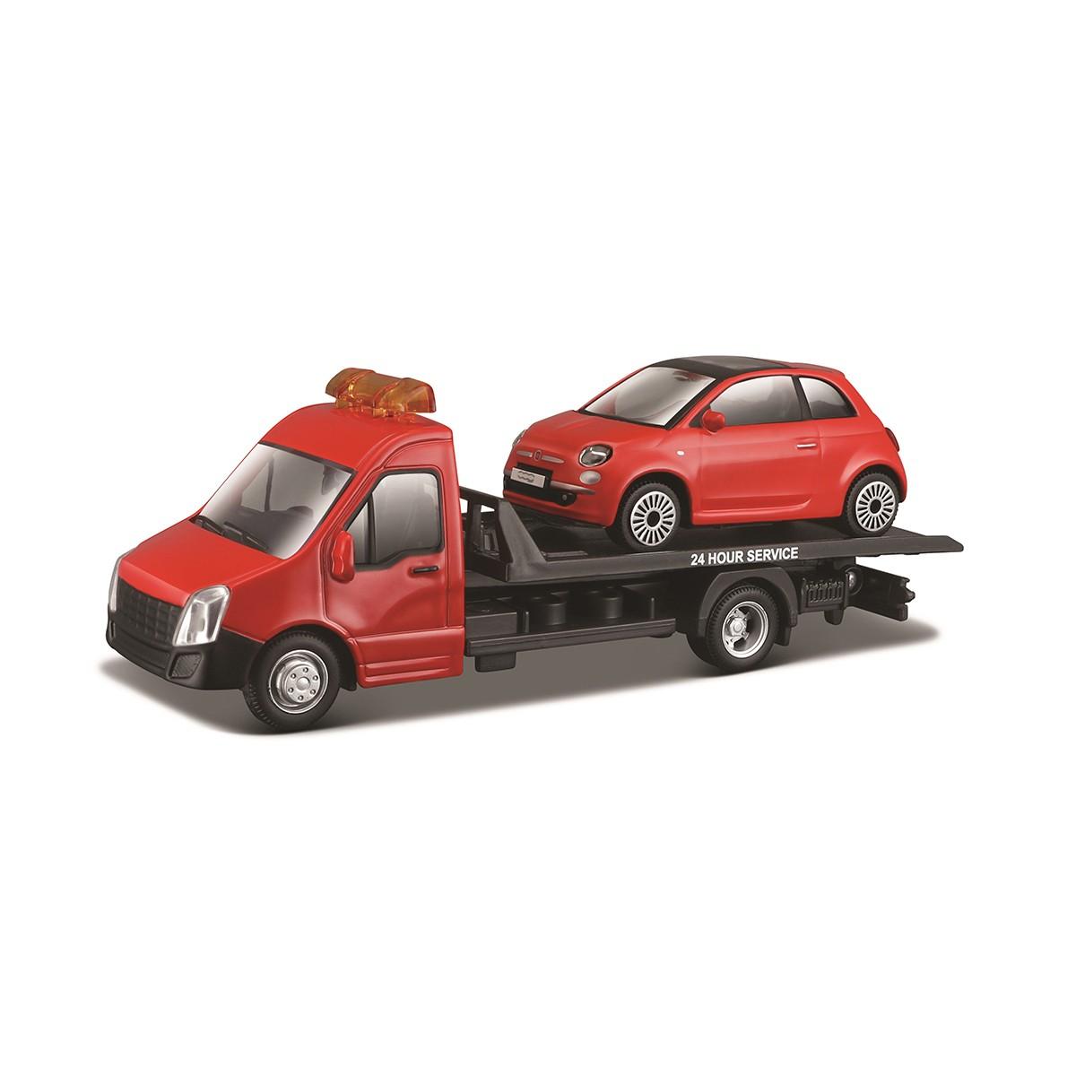Игровой набор Bburago автоперевозчик с автомоделью Fiat 18-31402