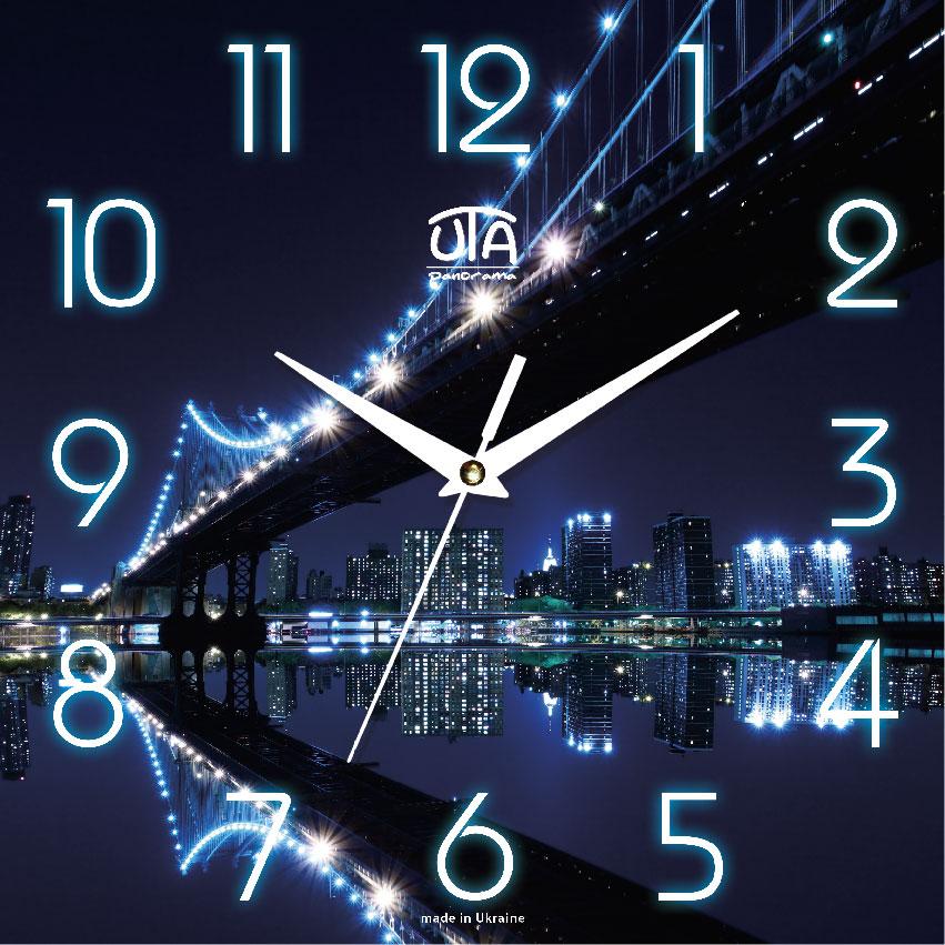 Часы настенные ЮТА Панорама 300x300x16мм OF - 009