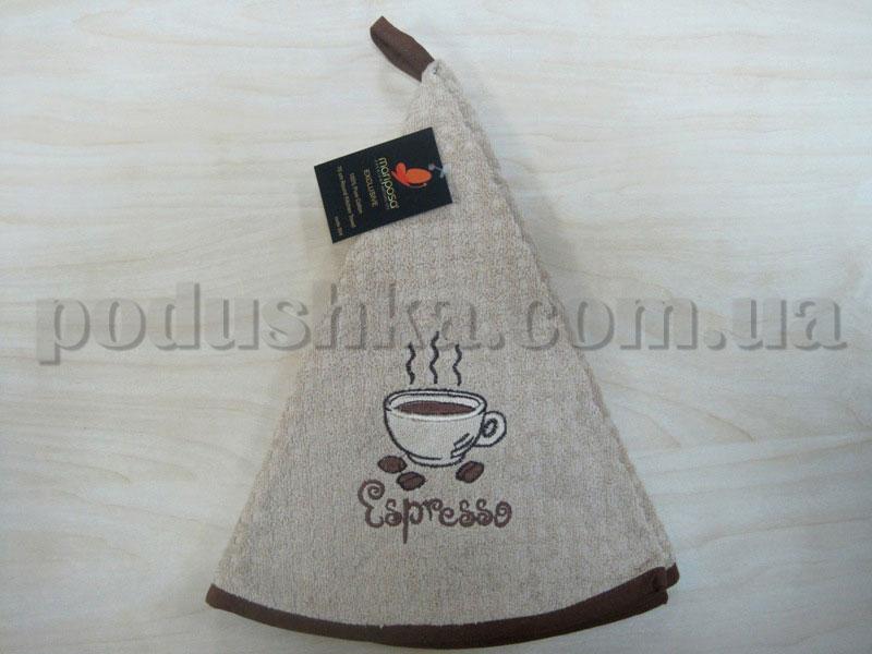 Полотенце махровое кухонное круглое Mariposa Эспрессо бежевое