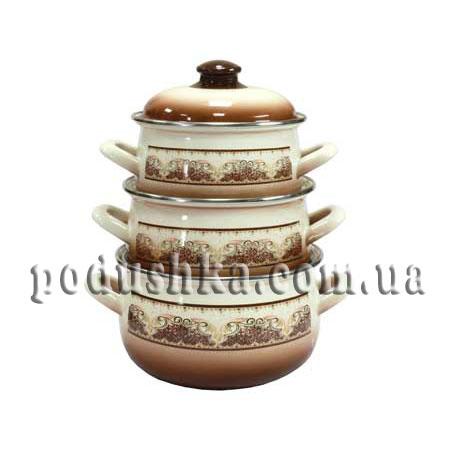 Набор посуды 3 предмета ТЕРРАКОТ