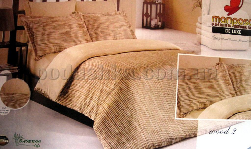 Постельное белье Wood-2 Mariposa шелк-бамбук сатин Двуспальный евро комплект  Mariposa