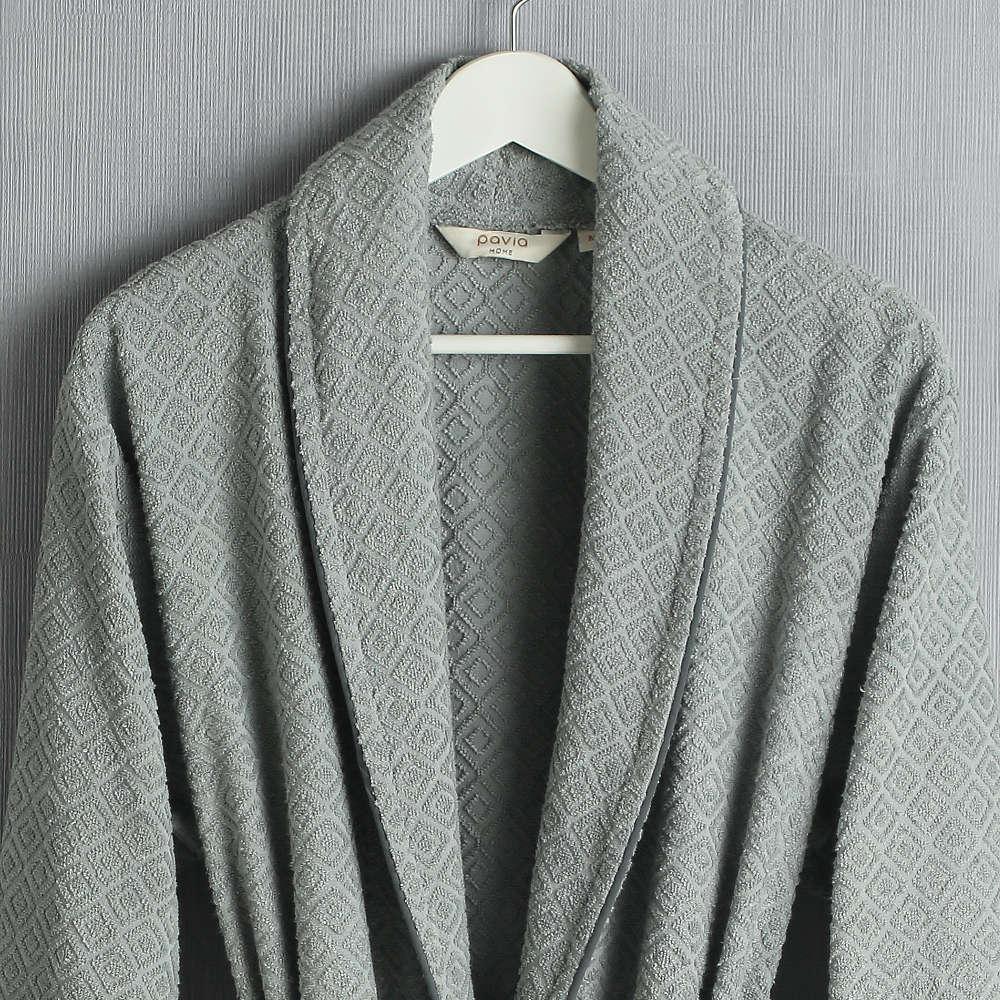 Мужской халат Pavia Rustico Grey серый M  Pavia