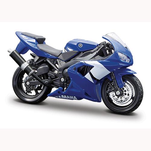 Мото-конструктор - Yamaha YZF-R1 (сине-белый, 1:18)
