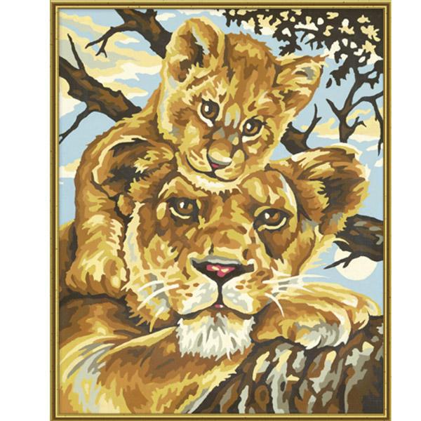 Художественный творческий набор - Львица и львенок