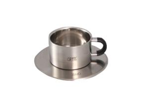 Чашка  блюдцем (нерж сталь) 8529