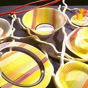 Сервиз столовый Luminarc Carine Strips Orange 19 предметов