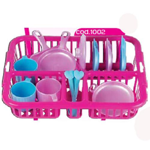 Набор посуды - Сушилка Макси розовый (13 предметов)