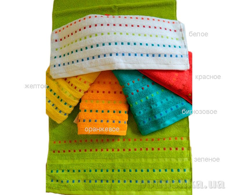 Махровое полотенце Zastelli Мозаика бирюзовое 30х50 см  Zastelli