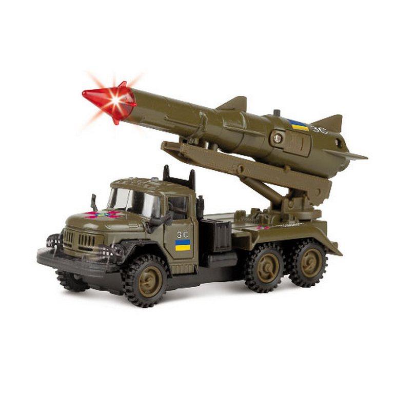 Автомодель Технопарк ЗИЛ-131 с ракетой военный CT10-001-R/2