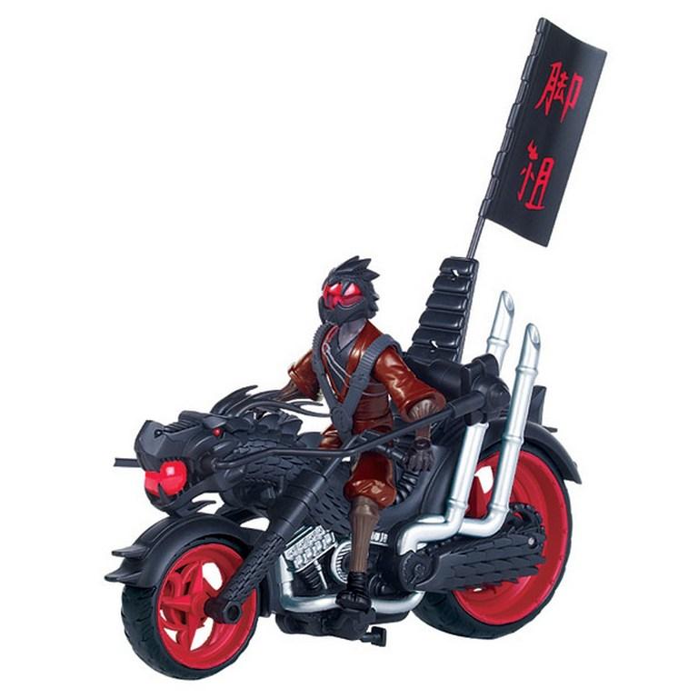 Боевой транспорт с фигуркой серии Черепашки-Ниндзя - Мотоцикл клана Фут и Фенг-воин Дракона TMNT 94003