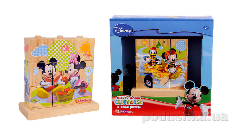 Деревянные кубики на подставке Mickey Mouse Eichhorn 0003303