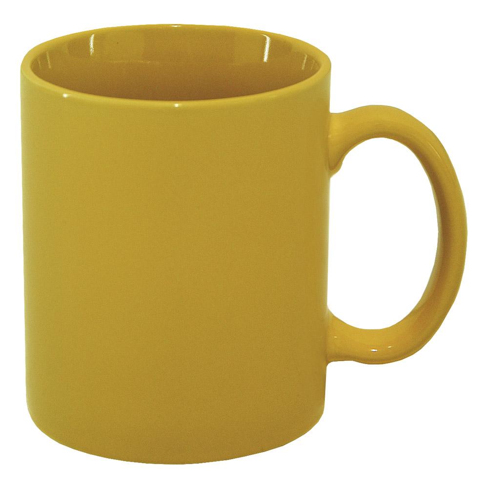 Чашка керамическая МД 350 мл KD400-4/9 желтая глянцевая   MД