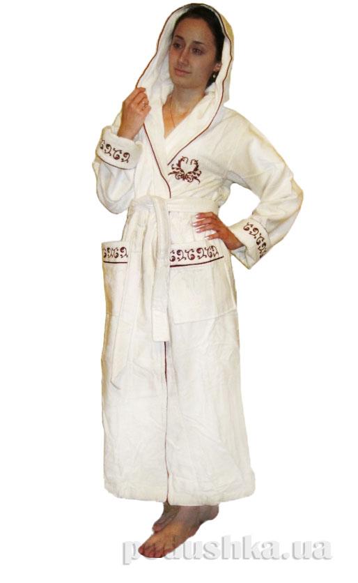 Халат женский длинный с капюшоном Nusa NS-6140-1