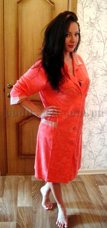 Халат женский короткий с капюшоном Nusa NS-025