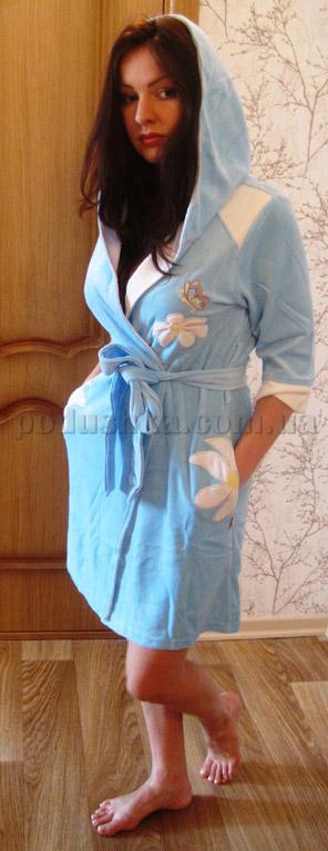 Халат женский короткий велюровый Nusa NS-077