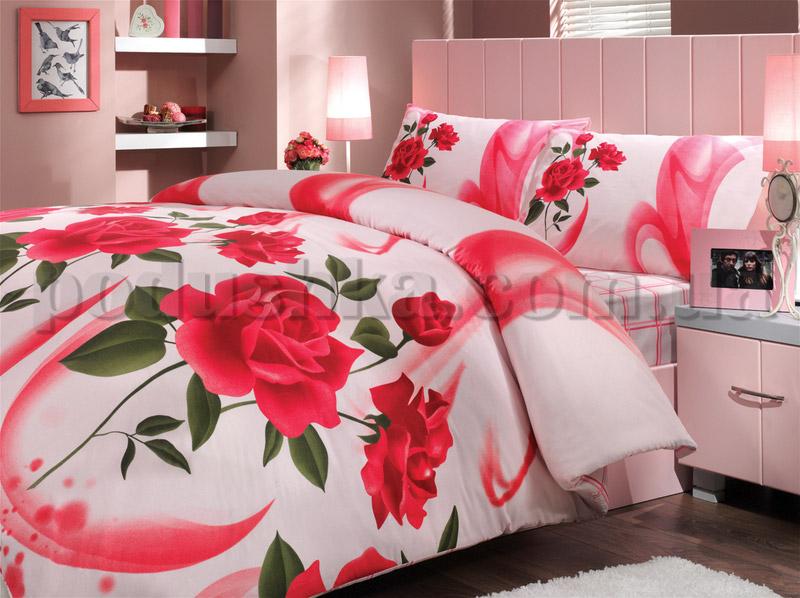 Постельное белье Hobby Elena красный