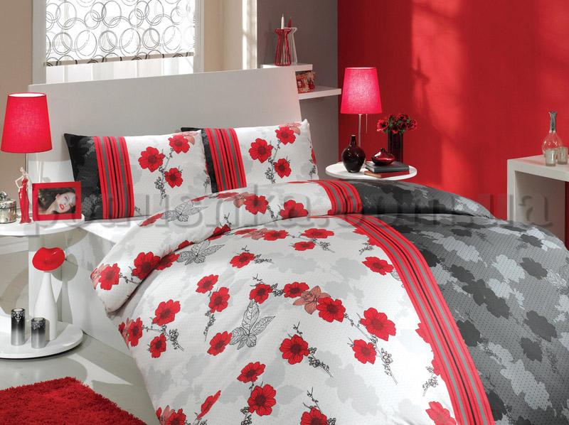 Постельное белье Hobby Ranforce Liana красный