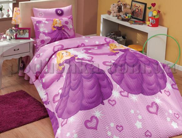 Постельное белье Hobby Prensess фиолетовый ранфорс