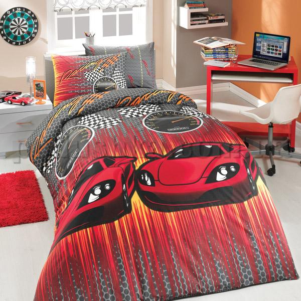 Постельное белье Hobby Speed красный