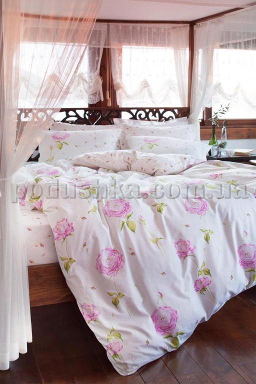 Постельное белье Karaca Cresta розовый