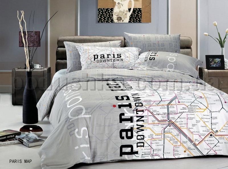 Постельное белье Le Vele Paris map Полуторный комплект  Le Vele