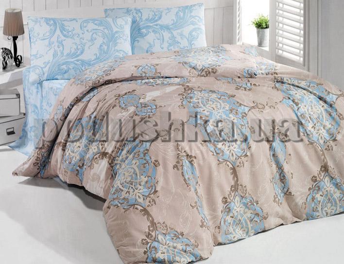 Постельное белье TAC Casabel Empire поликоттон голубой