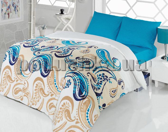 Постельное белье TAC Casabel Royal поликоттон голубой
