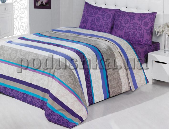 Постельное белье TAC Casabel Sienna поликоттон фиолетовый