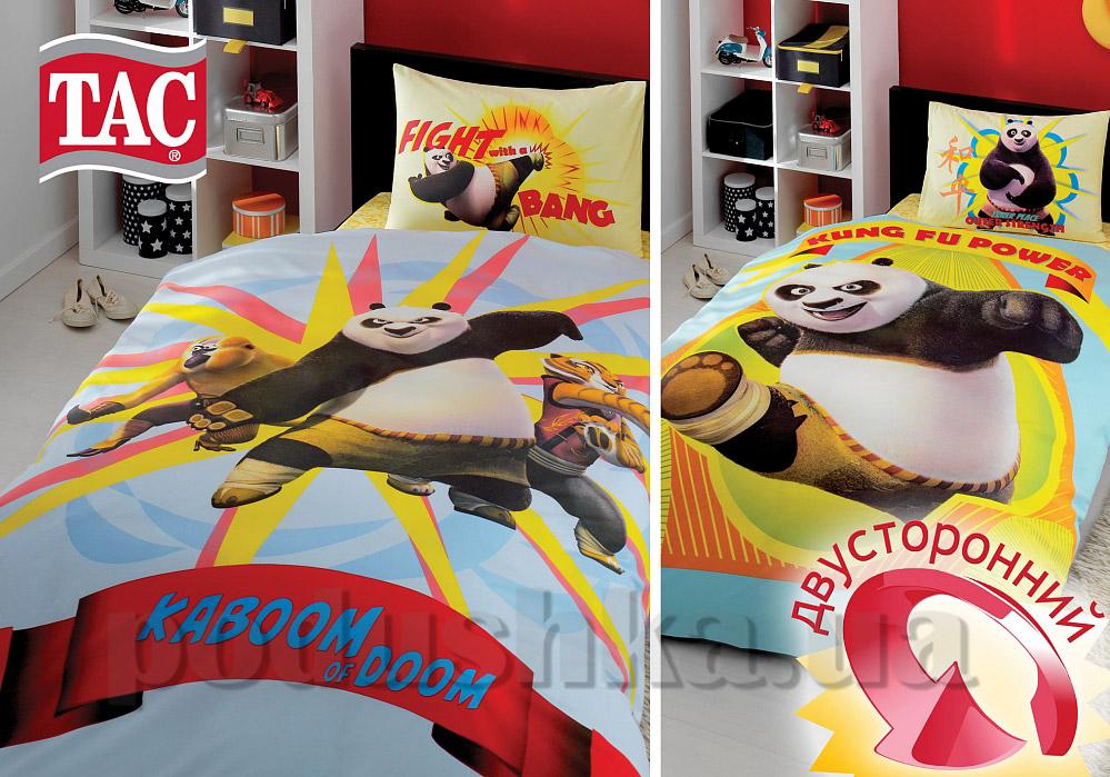 Постельное белье TAC Ranforce Kung Fu Panda Power двухсторонний