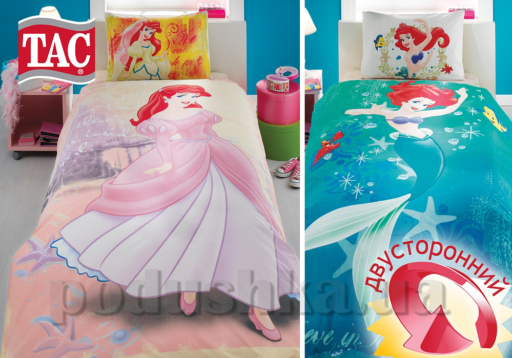 Постельное белье TAC Ranforce Little mermaid двухсторонний