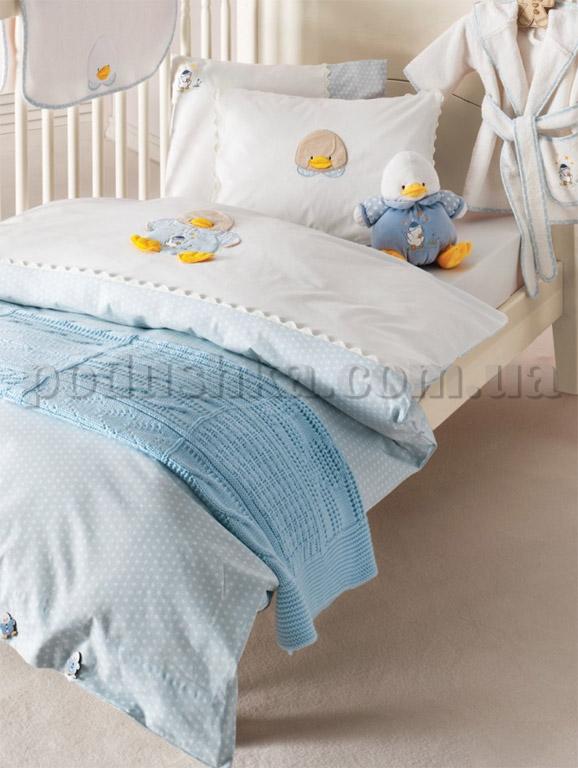 Постельное белье в кроватку Karaca Duck голубой
