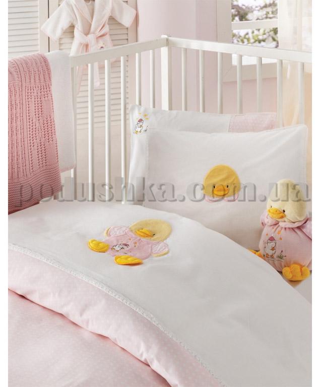 Постельное белье в кроватку Karaca Duck розовый