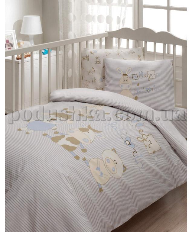 Постельное белье в кроватку Karaca Jolly голубой