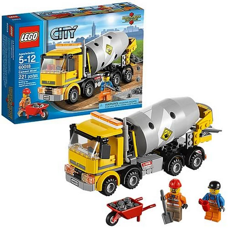 Конструктор Lego Бетономешалка 60018
