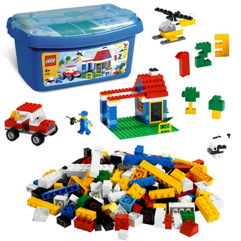 Конструктор Lego Большая коробка с кубиками lego-6166