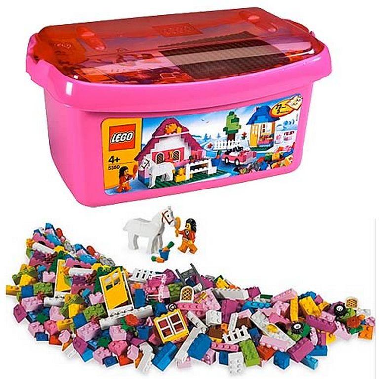 Конструктор Lego Большая розовая коробка с кубиками lego-5560