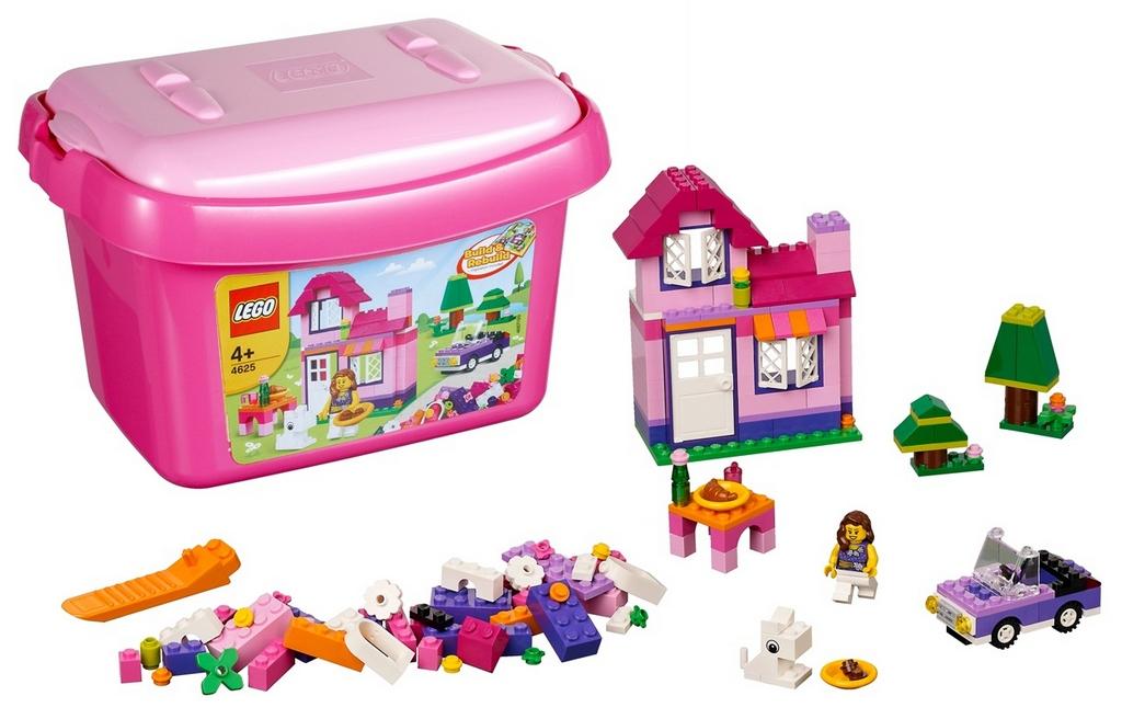 Конструктор Lego Розовая коробка с кубиками lego-4625