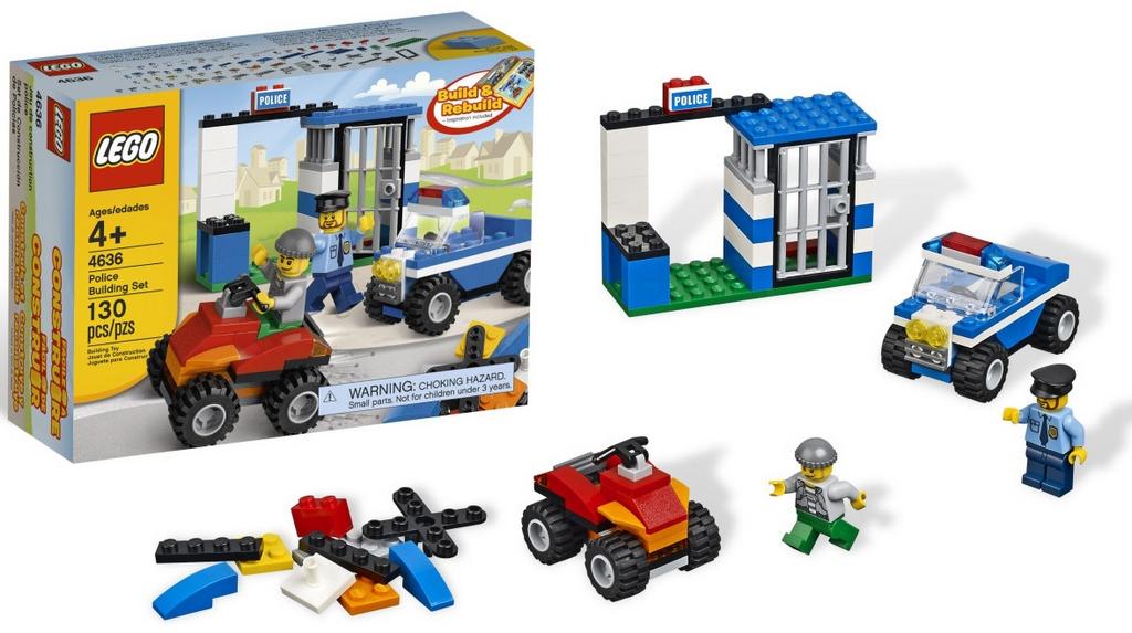 Конструктор Lego Строительный набор Полиция lego-4636