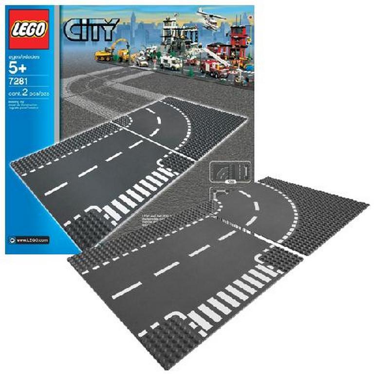 Конструктор Lego Т-образный перекресток и поворот lego-7281