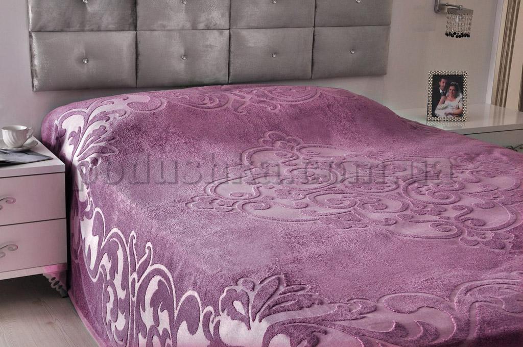 Махровая простынь-покрывало PAVIA TENDRESSE LILA фиолетовая